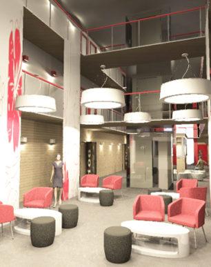 koncepcja wnętrza motelu